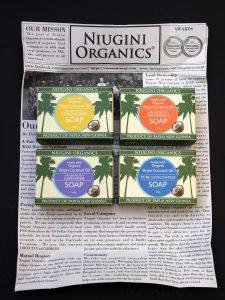 Niugini Organics Duschseifen ausgepackt